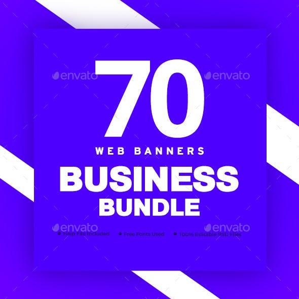 Business Web Banner Set Bundle - 5 Sets - 70 Banners