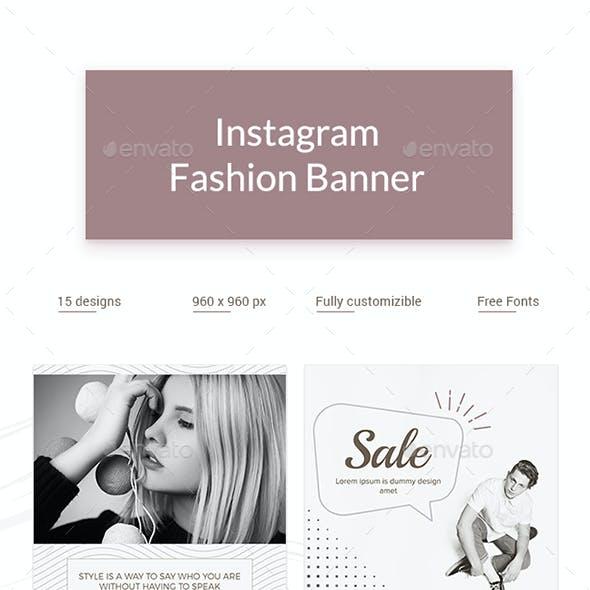 Instagram Fashion Banner Set