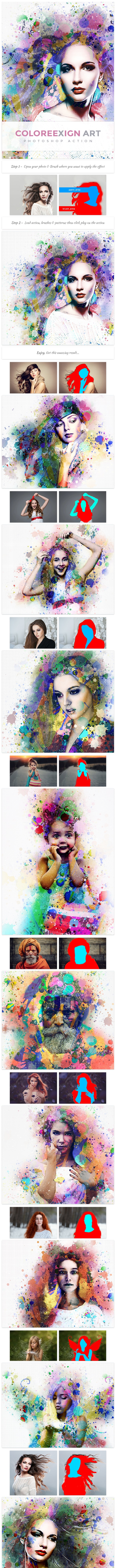 ColoreeXign Art | PS Action - Photo Effects Actions