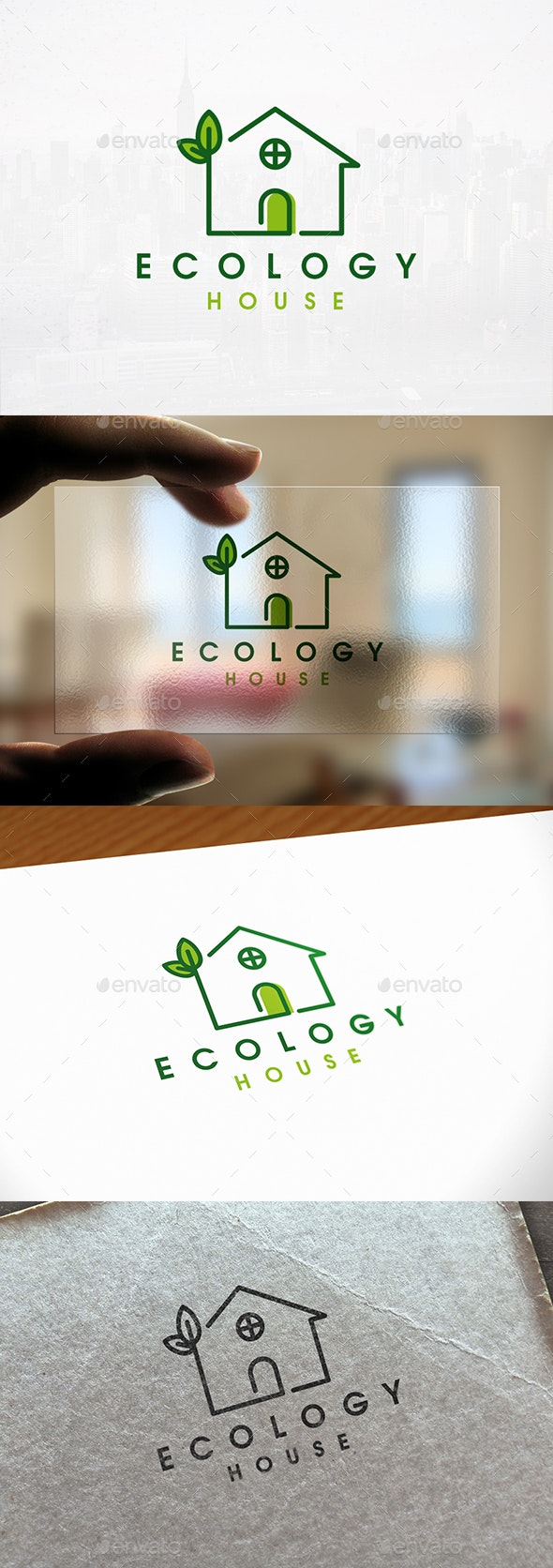Ecology House Logo Template - Nature Logo Templates