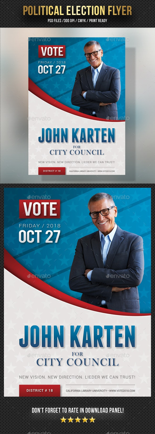 Political Election Flyer - Events Flyers
