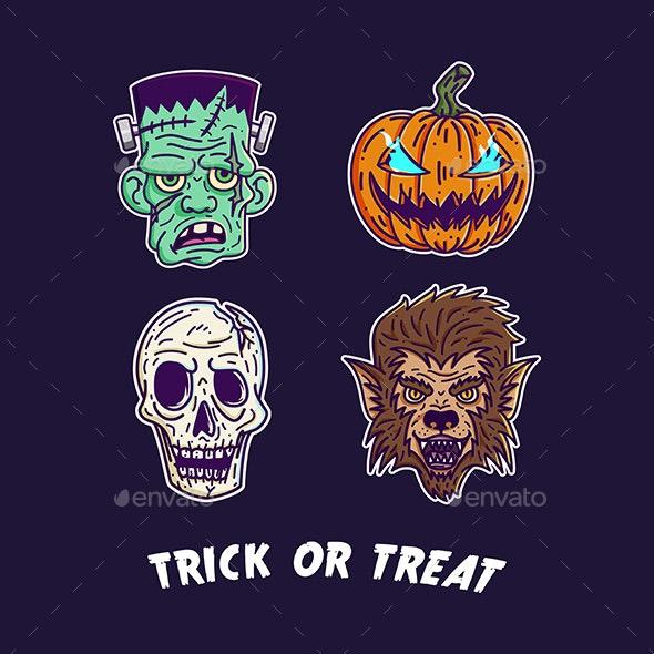 Halloween Monster Set 2 - Monsters Characters