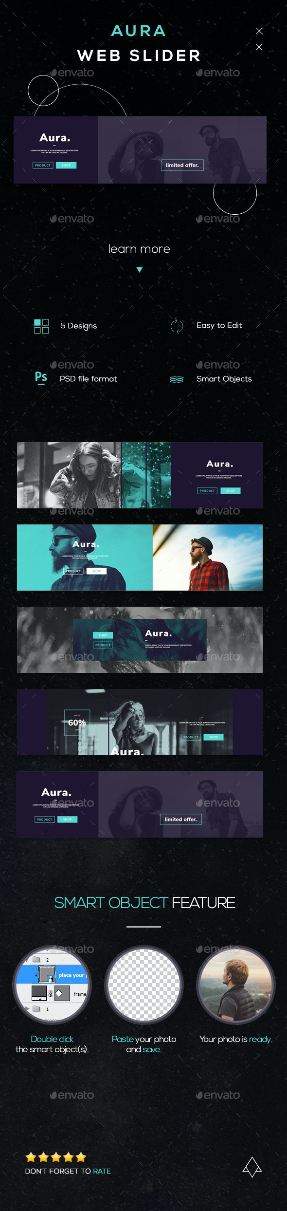 Aura - Modern Web Sliders - Sliders & Features Web Elements