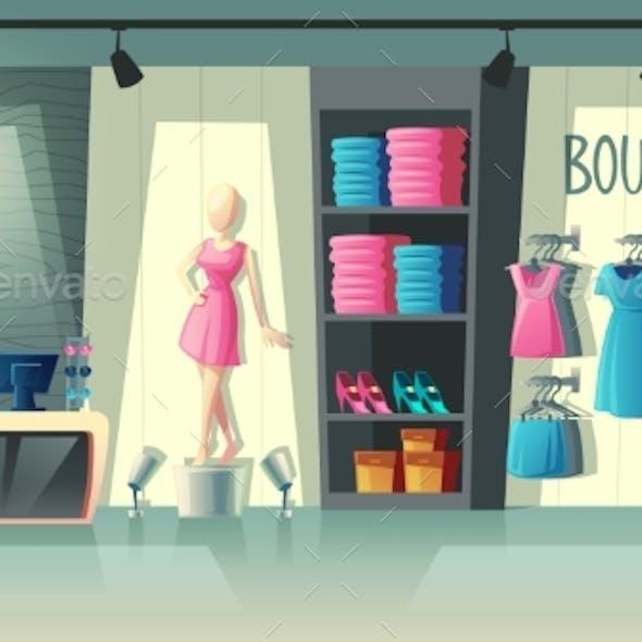 Vector Clothing Shop Interior