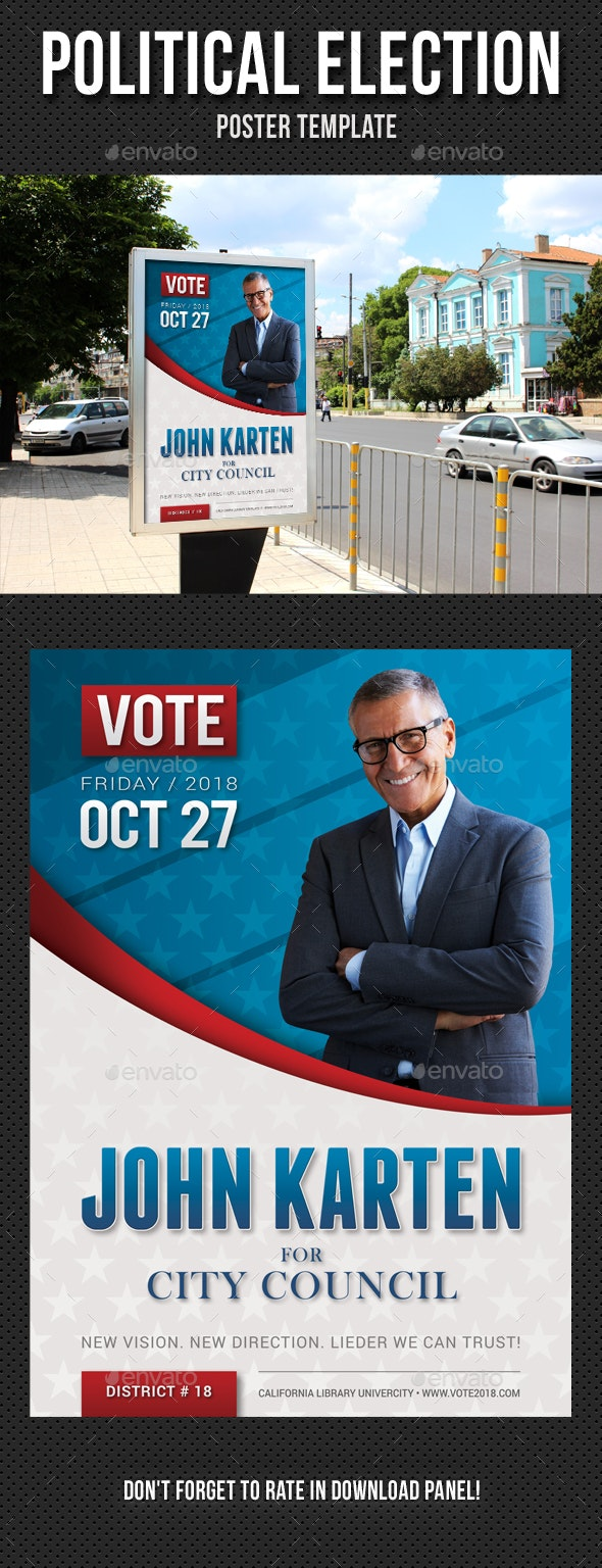 Political Election Poster - Signage Print Templates