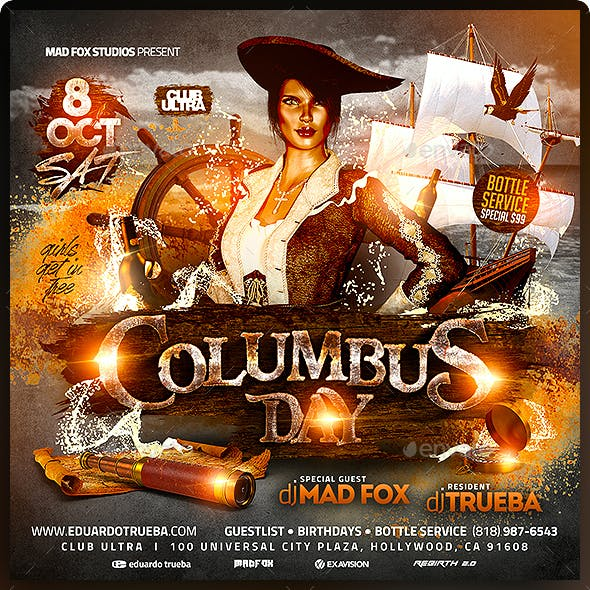 Columbus Day Party Flyer