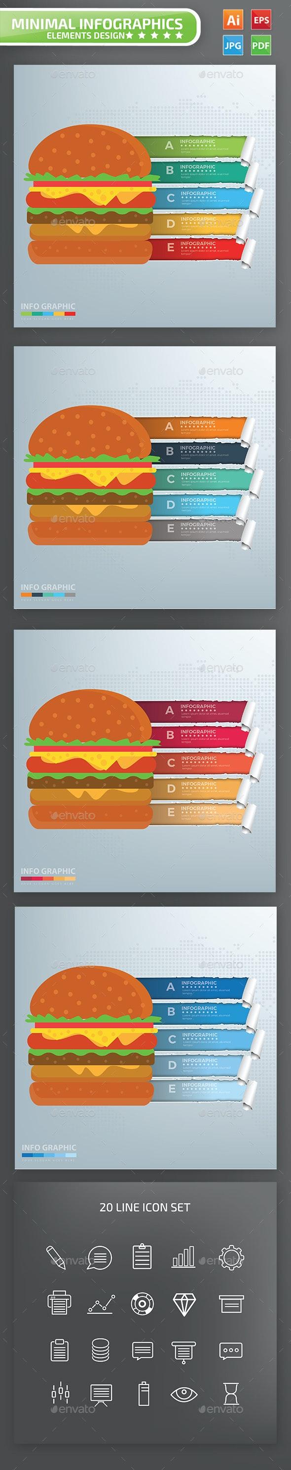 Hamburger Infographics Design - Infographics