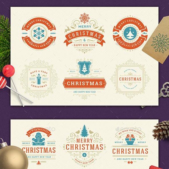 Christmas Retro Design Set