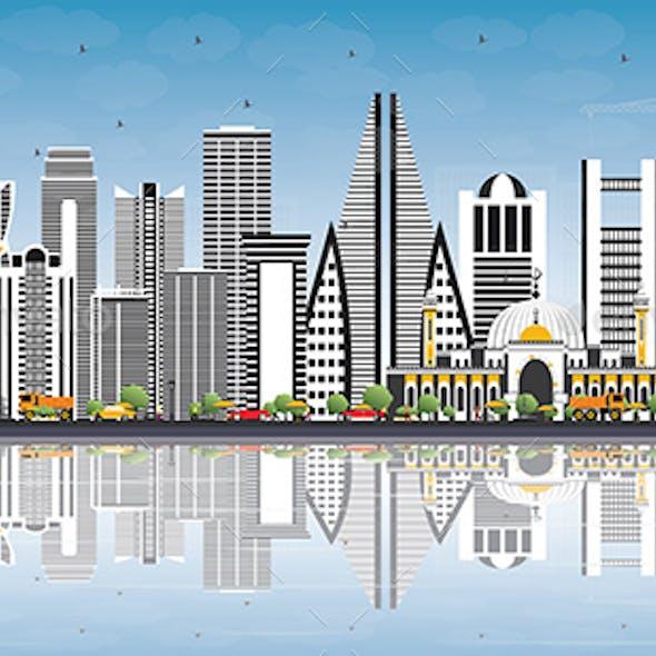 Bahrain City Skyline with Gray Buildings