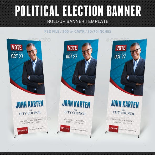 Political Election Banner
