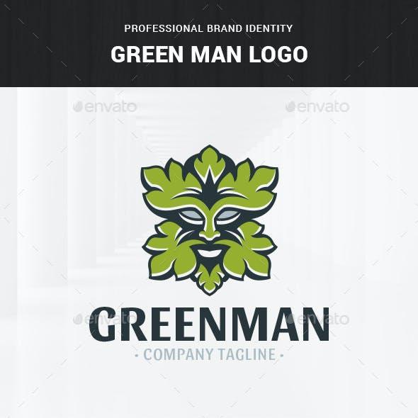Green Man Logo Template
