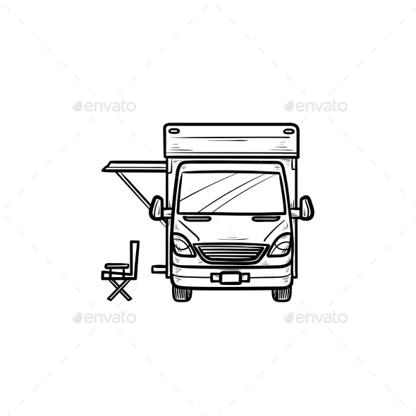 Motorhome with Tent - Man-made Objects Objects