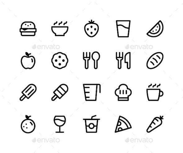 Food & Drink Line Icons