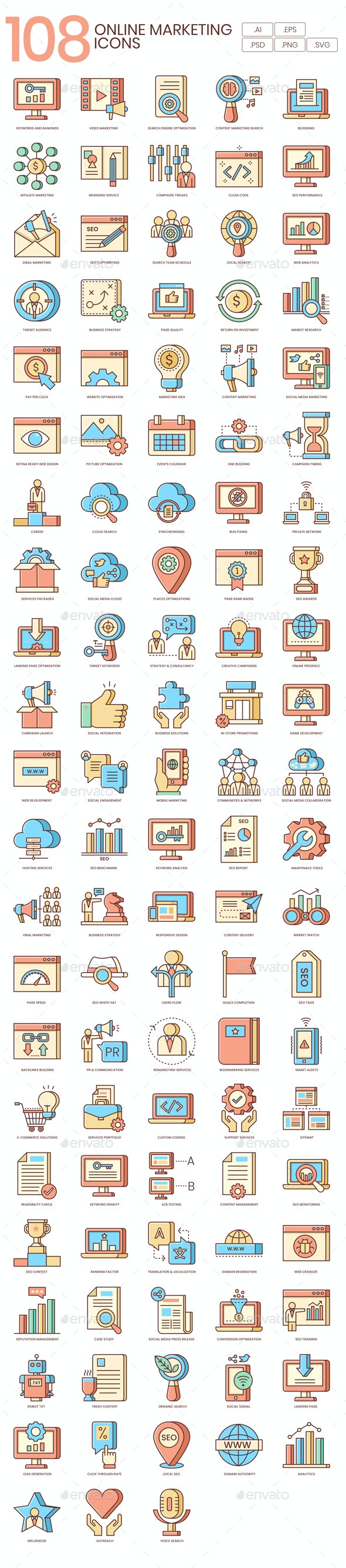Online Marketing Icons - Business Icons