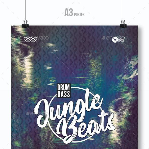 Jungle Beats - Party Flyer / Poster Template A3