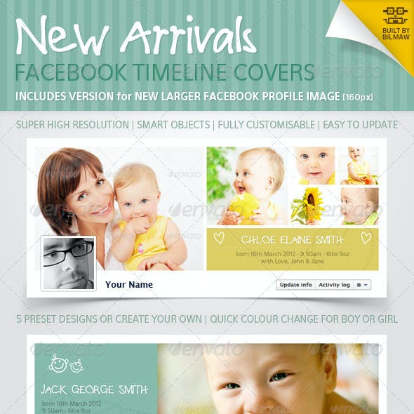 New Arrivals Facebook Timeline Covers