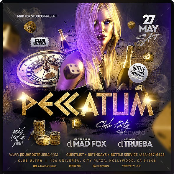 Peccatum Club Party Flyer