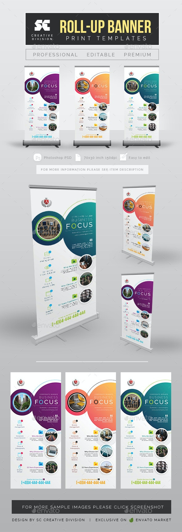 Creative Corporate Roll Up Banner - Signage Print Templates