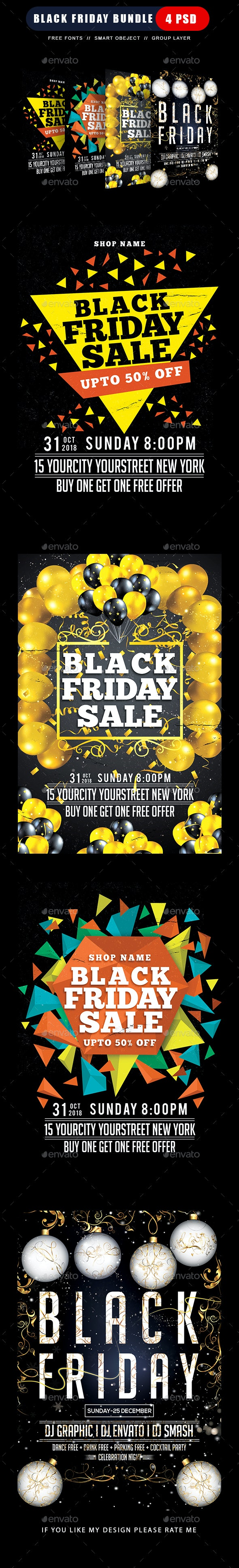 Black Friday Flyers Bundle - Clubs & Parties Events
