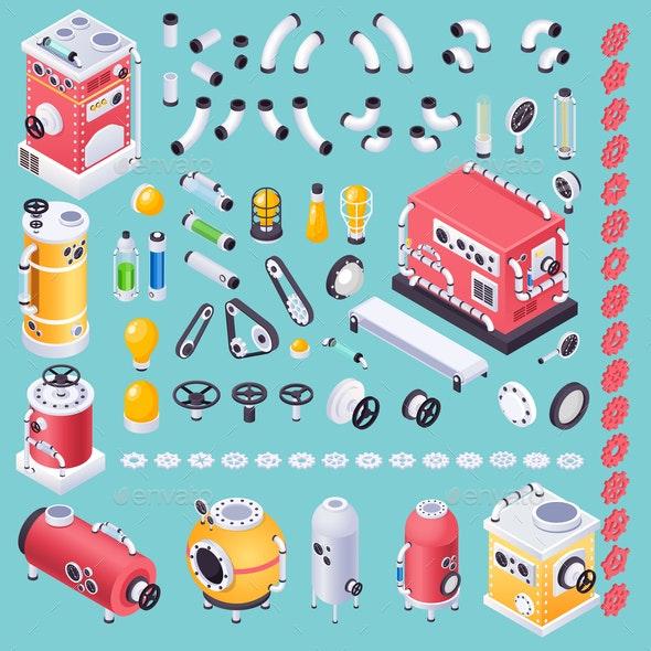 Steampunk Machine Concept - Industries Business