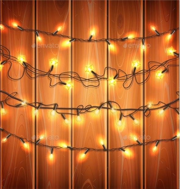Vector Christmas Lights - Christmas Seasons/Holidays