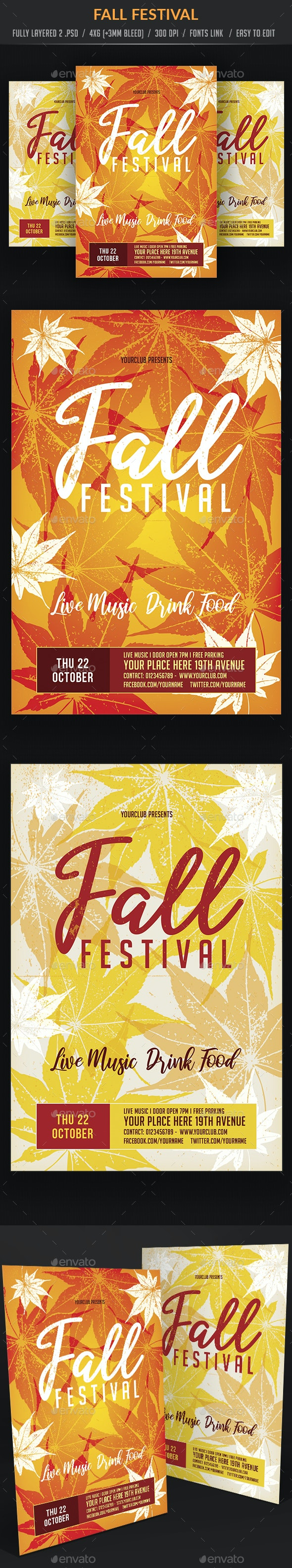Fall Festival - Events Flyers