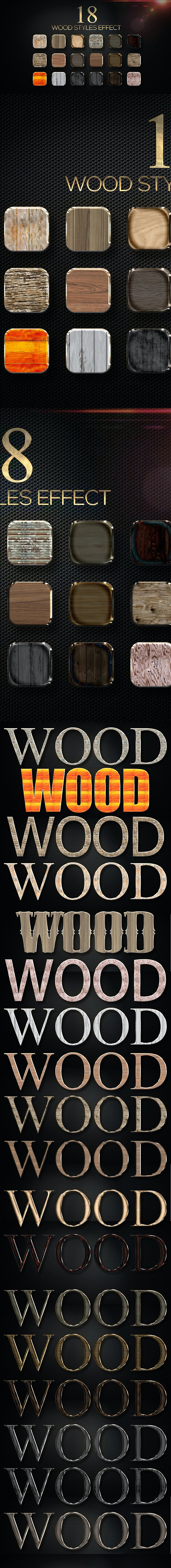 18 Wood Styles - Text Effects Styles