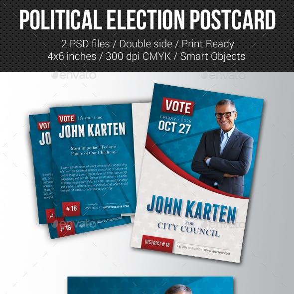 Political Election Mailer Postcard