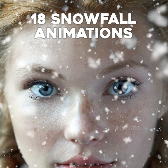 18 Gif Animated Snow Photoshop