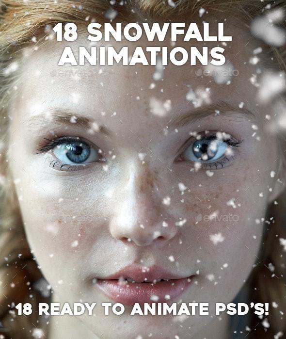 18 Gif Animated Snow Photoshop - Photo Templates Graphics
