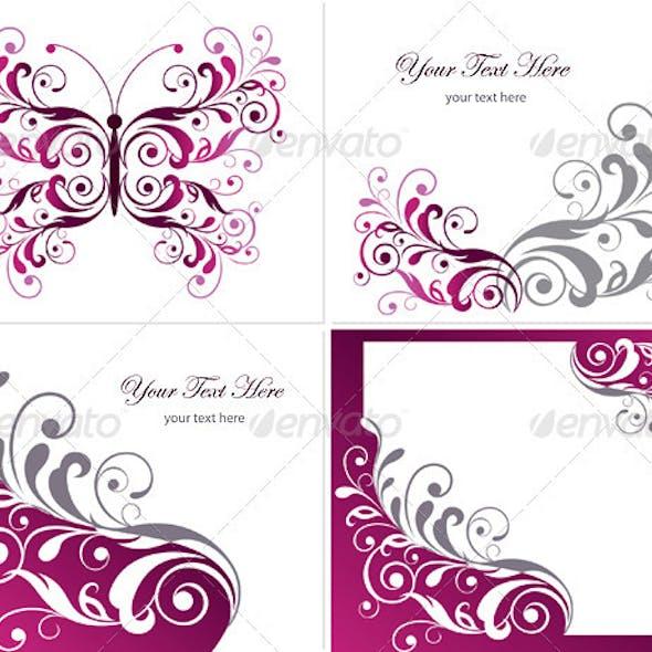 Floral Graphics Design Elements