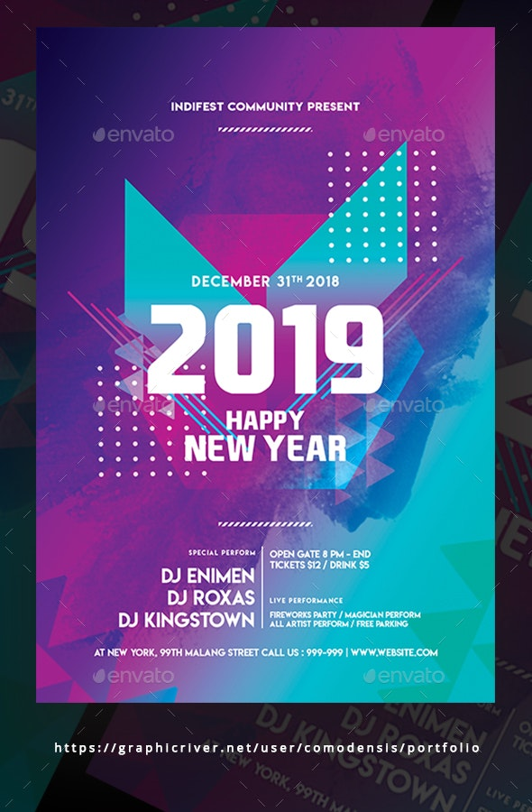 Happy New Year Flyer - Clubs & Parties Events