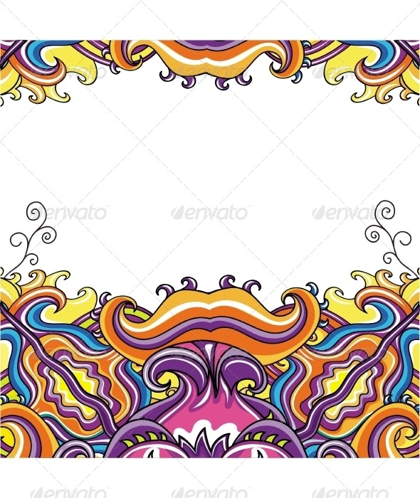 Abstract floral card series - Flourishes / Swirls Decorative