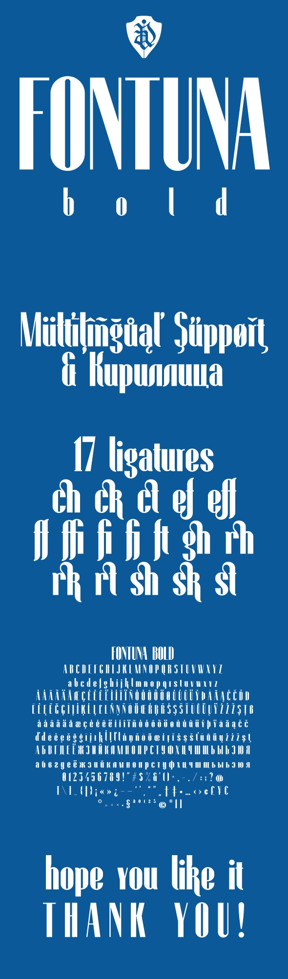 Fontuna Bold - Condensed Sans-Serif