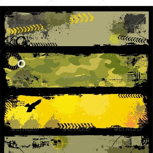 Grunge Military banners