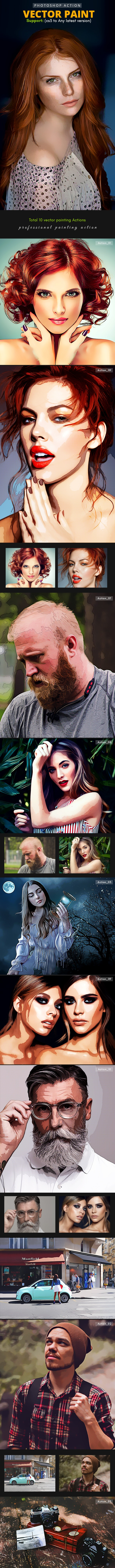 Vector Painting Actions - Photo Effects Actions