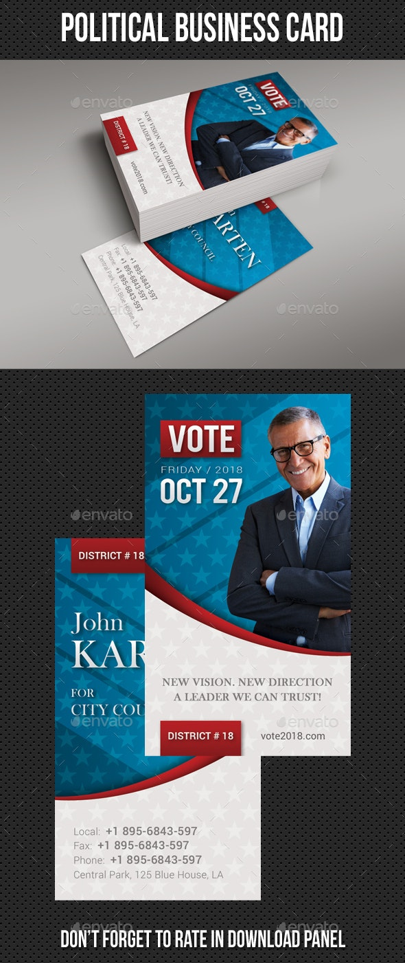 Political Business Card - Corporate Business Cards
