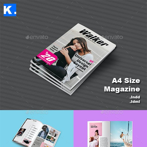 Indesign Magazine Template 12