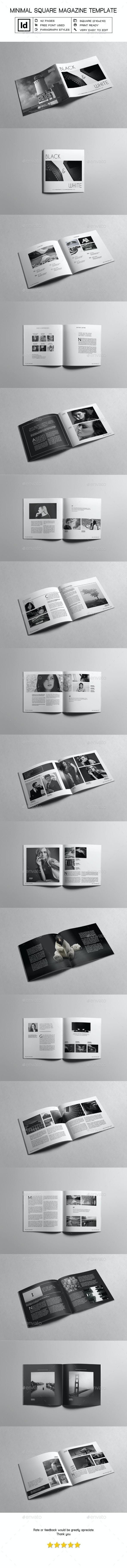 Minimal Square Magazine Template V - Magazines Print Templates