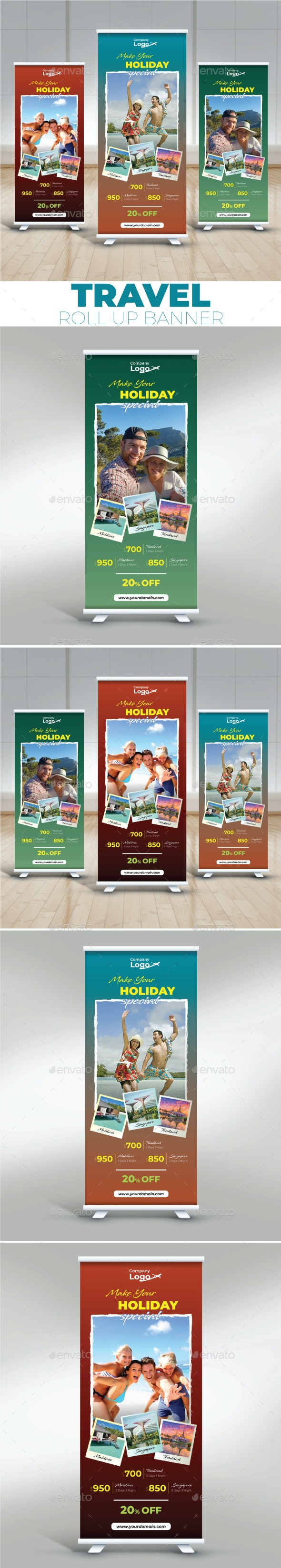 Travel Roll Up Banner - Signage Print Templates