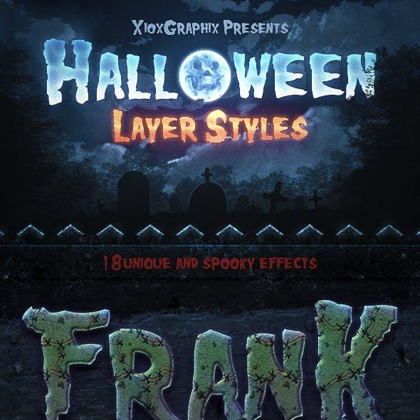 Halloween Layer Styles