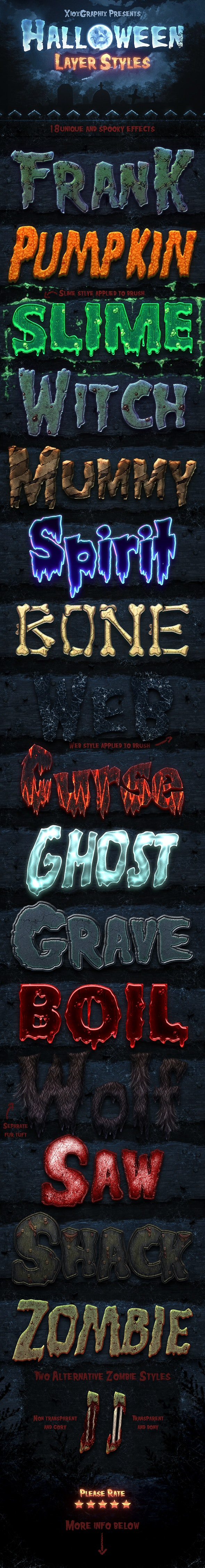 Halloween Layer Styles - Text Effects Styles