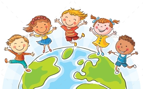Kids Round the Globe - People Characters