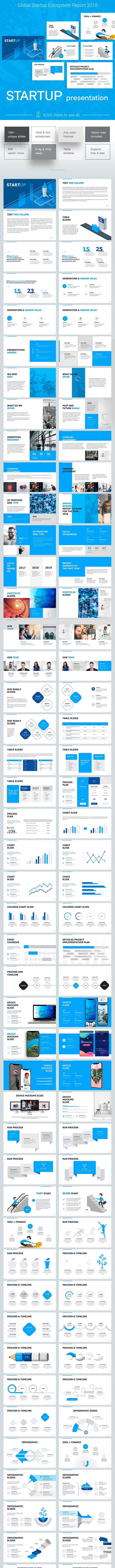 Start up Pitch Powerpoint Template - Pitch Deck PowerPoint Templates