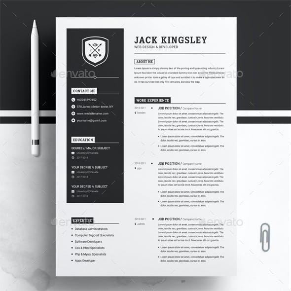 Minimalist Resume / CV Template