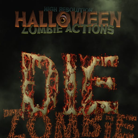 Halloween and Horror - Zombie Actions