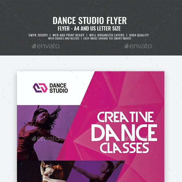 Dance Studio and Tutoring Services Flyer