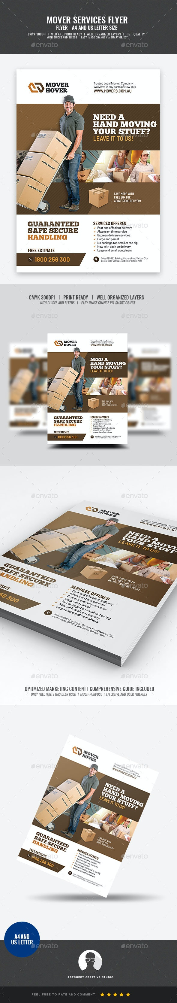 Mover and Logistic Services Flyer - Corporate Flyers
