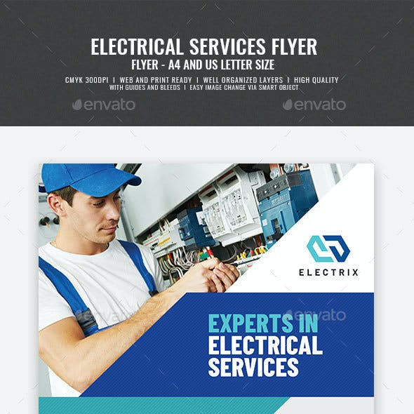 Electrician and Electrical Company Flyer