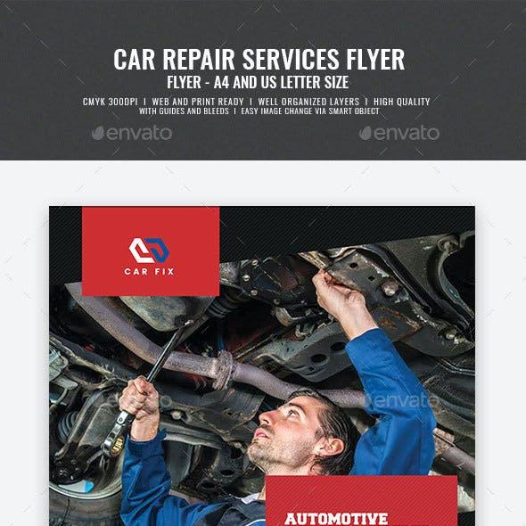 Car Repair Mechanic Flyer